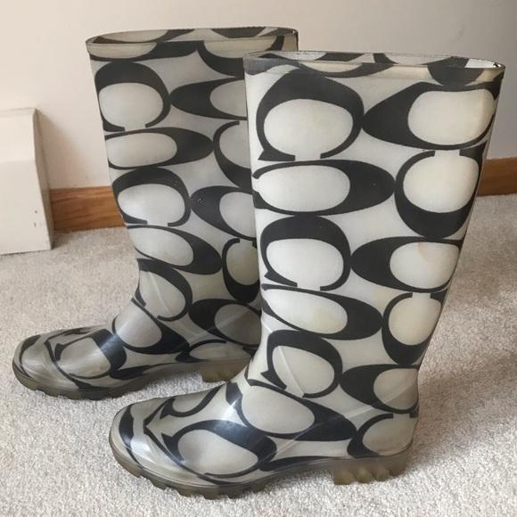 ⚡️⚡️SOLD⚡️⚡️Coach Rain Boots Size 8